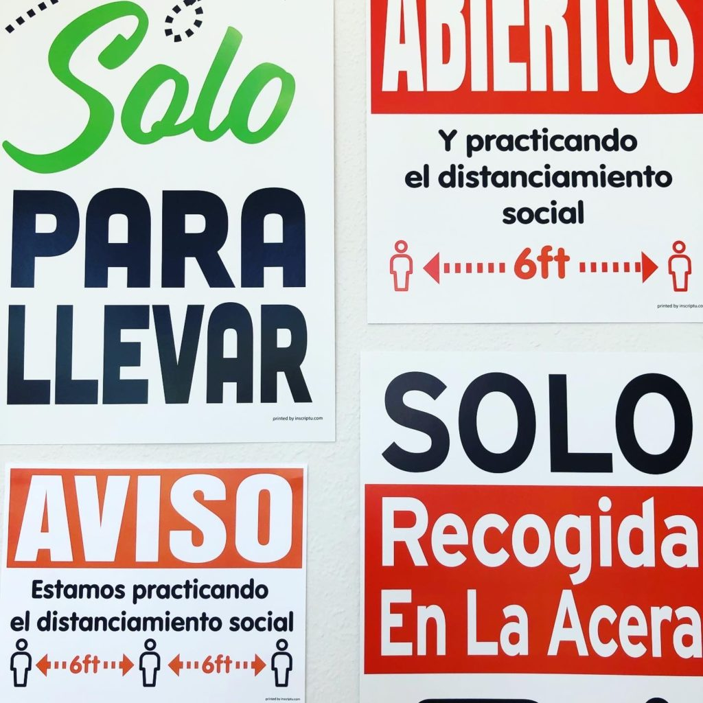 COVID Store Signage in Spanish