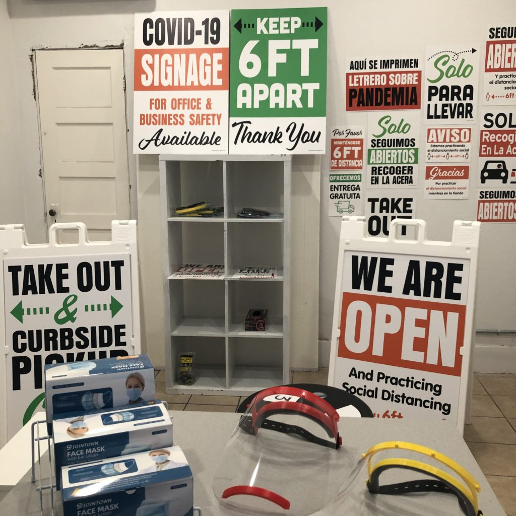 COVID Signs and Aframes