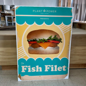 Large UV printed Restaurant sign of a Fish Fillet