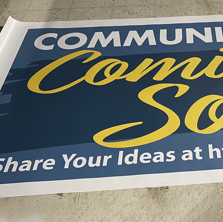 Large Vinyl Banner printed and grommeted