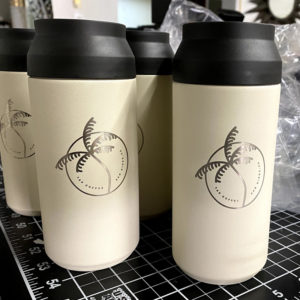 Many Laser Engraved Tumblers