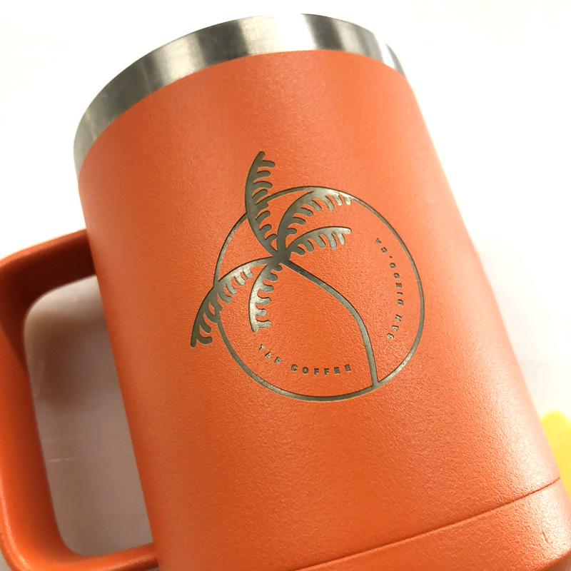 Engraved Tumbler with handle