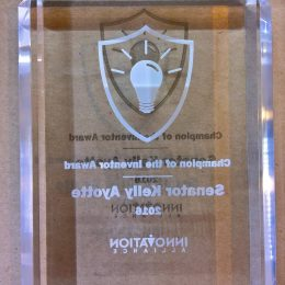 Square Crystal clear Laser engraved award