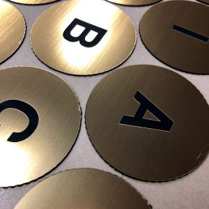 UV printed adhesive number plates