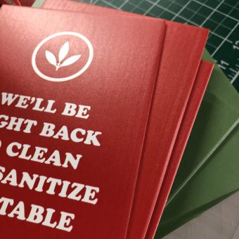 UV printed foamcore signs
