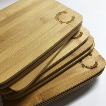 Laser engraved wood cutting boards