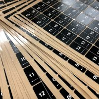 Square Adhesive number plates on sheets