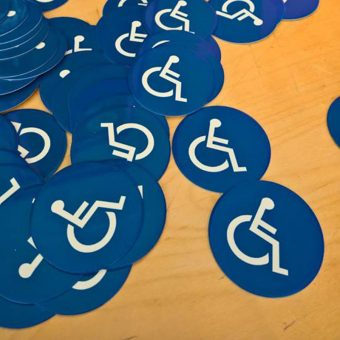 Metal engraved Handicapped Seating Signs