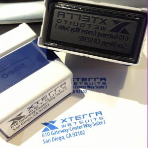 Blue Self-inking Stamps